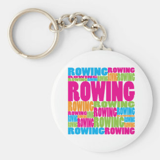 Colorful Rowing Basic Round Button Keychain