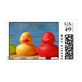 Colorful Rubber Ducks Postage
