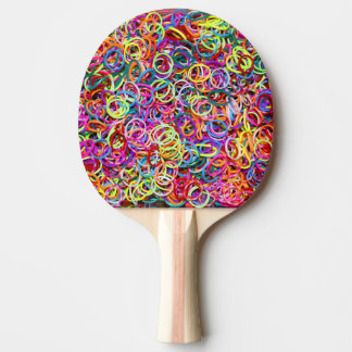 Colorful Rubberbands Ping-Pong Paddle