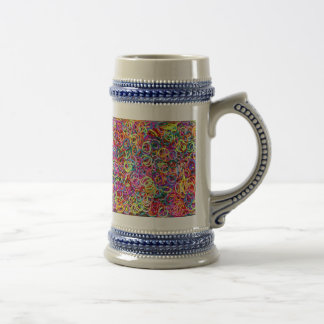 Colorful Rubberbands 18 Oz Beer Stein