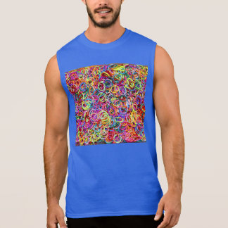 Colorful Rubberbands Sleeveless Tees