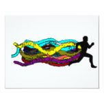 """Colorful Running 4.25"""" X 5.5"""" Invitation Card"""