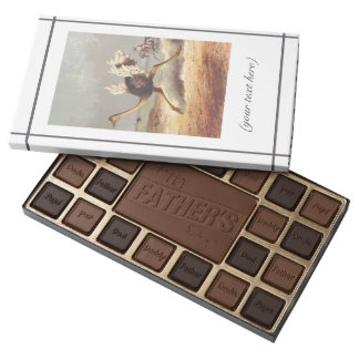 Colorful running ostrich illustration sweet box 45 piece assorted chocolate box