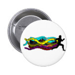 Colorful Running Pinback Buttons