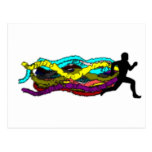 Colorful Running Postcard