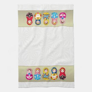 Colorful Russian Matrioshka (Matreshka) doll Towel
