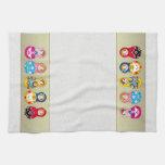 Colorful Russian Matrioshka (Matreshka) doll Towel Hand Towel