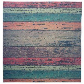 Colorful Rustic Beach Wood Cloth Napkin