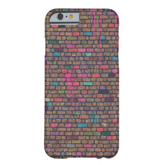 Colorful Rustic Brick Wall Texture Barely There iPhone 6 Case
