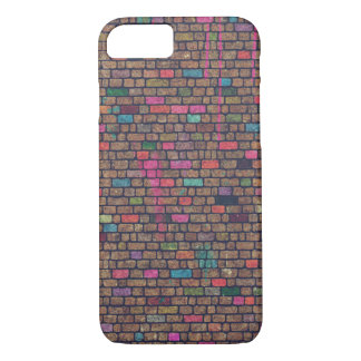 Colorful Rustic Brick Wall Texture iPhone 7 Case