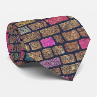 Colorful Rustic Brick Wall Texture Tie