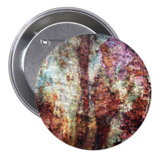 Colorful Rusty Old Wall Texture Pinback Button