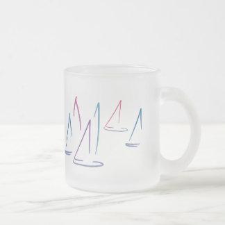 Colorful Sailboats Frosted Mug