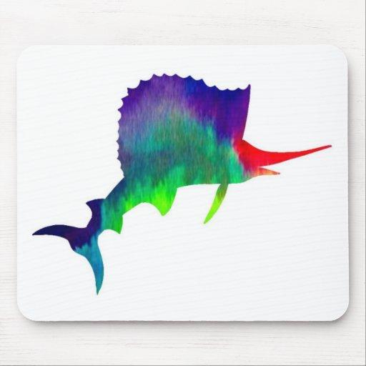 Colorful Sailfish Mousepads