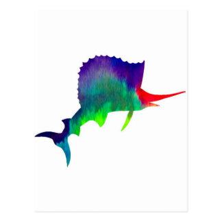 Colorful Sailfish Postcard