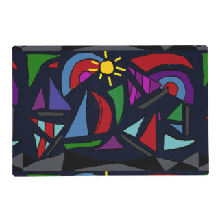 Colorful Sailing Abstract Placemat