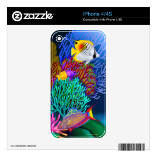 Colorful Saltwater Coral Reef Fish iPhone Skin Skin For iPhone 4