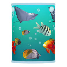 Colorful Saltwater Creatures Lamp Shade
