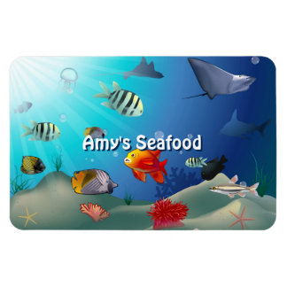 Colorful Saltwater Creatures Magnet