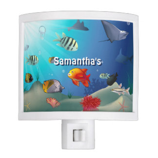 Colorful Saltwater Creatures Night Light