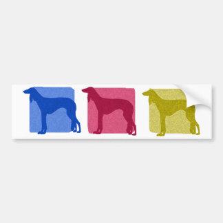 Colorful Saluki Silhouettes Bumper Sticker