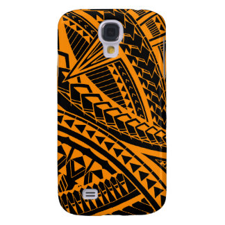 Colorful Samoan tattoo pattern Galaxy S4 Cover