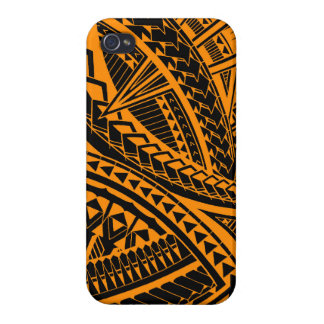 Colorful Samoan tattoo pattern iPhone 4 Covers