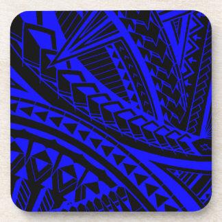 Colorful Samoan tattoo patterns Coaster
