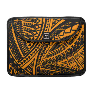 Colorful Samoan tattoo patterns Sleeve For MacBook Pro