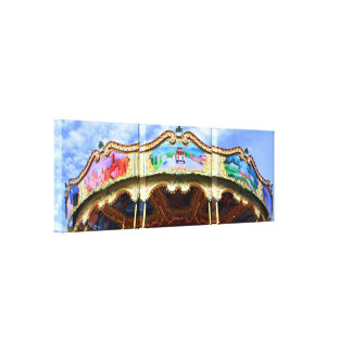 Colorful San Francisco Carousel Gallery Wrapped Canvas