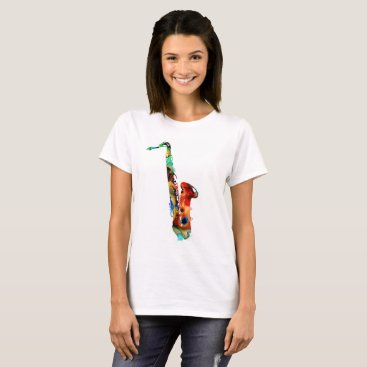 Beach Themed colorful saxophone T-shirts