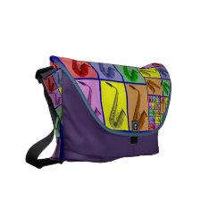 Colorful Saxophones Music Messenger Bag at Zazzle