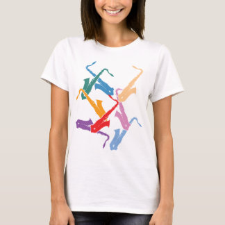 Colorful Saxophones T-Shirt