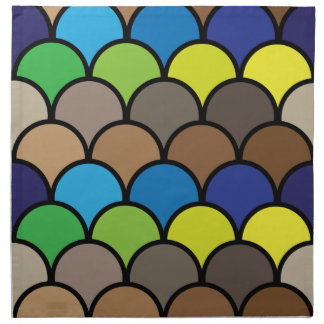 Colorful Scales American MoJo Napkins