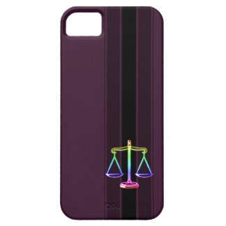 Colorful Scales of Justice   Law iPhone SE/5/5s Case