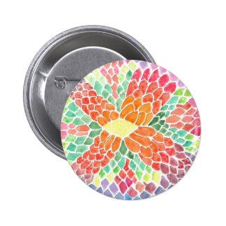 Colorful Scales - vivid abstract watercolor design Pins