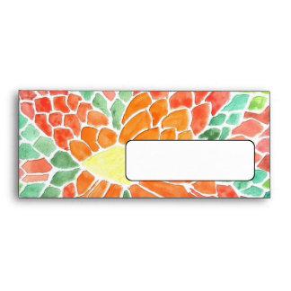 Colorful Scales - vivid abstract watercolor design Envelope