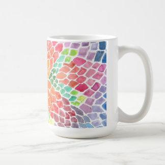 Colorful Scales - vivid abstract watercolor design Coffee Mug