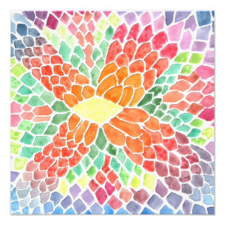 Colorful Scales - vivid abstract watercolor design Photo Print