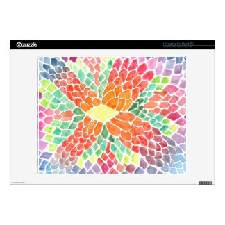 Colorful Scales - vivid abstract watercolor design Skins For Laptops
