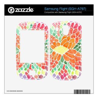 Colorful Scales - vivid abstract watercolor design Samsung Flight Skin