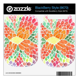 Colorful Scales - vivid abstract watercolor design BlackBerry Skins