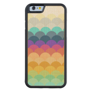 Colorful Scalloped Carved Maple iPhone 6 Bumper Case
