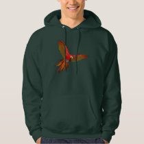 Colorful Scarlet macaw fly art Hoodie