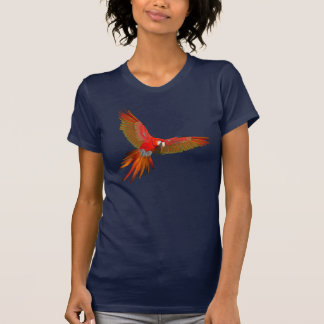 Colorful Scarlet macaw fly art Tee Shirts