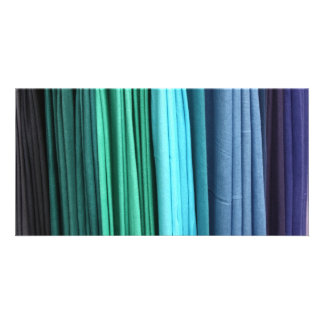 colorful scarves picture card