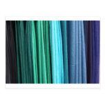 colorful scarves postcard