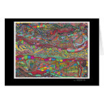 Colorful Scenery In Mazes Greeting Card