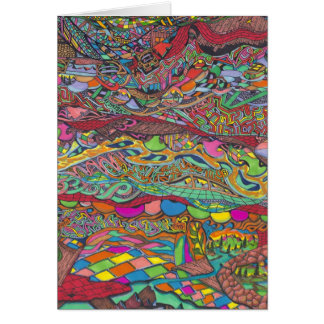 Colorful Scenery In mazes Line Cards