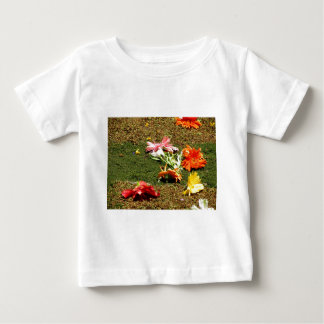 Colorful scenery of forgotten flowers baby T-Shirt